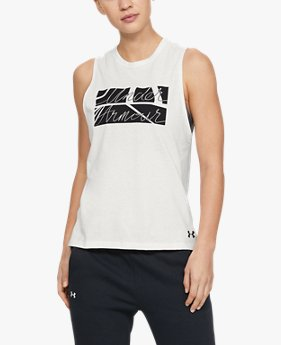 Women's UA Graphic Box Script Muscle Tank